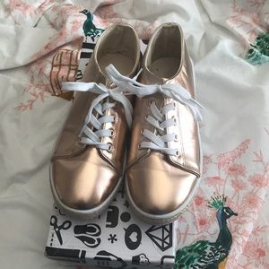 Bamboo Brand Rose Gold Sneakers